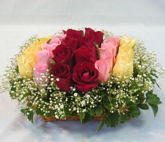 15 adet reprenkli gül sepeti   Sivas çiçek yolla , çiçek gönder , çiçekçi