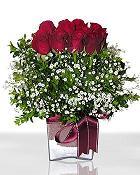 Sivas çiçek gönderme  11 adet gül mika yada cam - anneler günü seçimi -