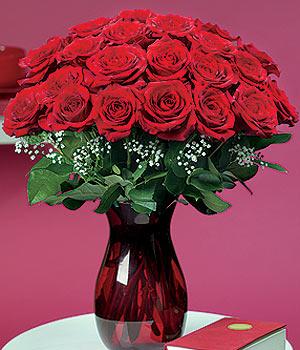 Sivas 14 şubat sevgililer günü çiçek  11 adet Vazoda Gül sevenler için ideal seçim