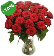 Vazo içerisinde 25 adet kırmızı gül  Sivas internetten çiçek siparişi