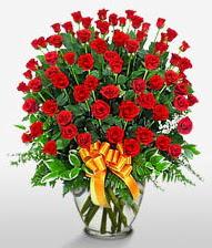 Görsel vazo içerisinde 101 adet gül  Sivas internetten çiçek siparişi