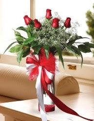 Camda 5 kırmızı gül tanzimi  Sivas çiçek gönderme sitemiz güvenlidir