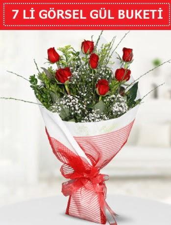 7 adet kırmızı gül buketi Aşk budur  Sivas çiçek yolla