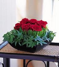 Sivas ucuz çiçek gönder  10 adet kare mika yada cam vazoda gül tanzim