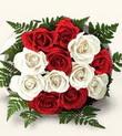 Sivas çiçek gönderme  10 adet kirmizi beyaz güller - anneler günü için ideal seçimdir -