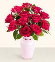 Sivas çiçek satışı  10 kirmizi gül cam yada mika vazo tanzim