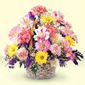 Sivas online çiçek gönderme sipariş  sepet içerisinde gül ve mevsim