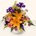 Sivas cicek , cicekci  sepet içinde karisik çiçekler