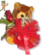 oyuncak ayi ve gül tanzim  Sivas çiçekçi mağazası