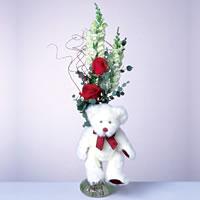 2 adet gül ve panda özel  Sivas çiçek , çiçekçi , çiçekçilik