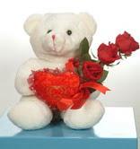 3 adetgül ve oyuncak   Sivas kaliteli taze ve ucuz çiçekler