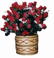 yapay kirmizi güller sepeti   Sivas çiçek online çiçek siparişi