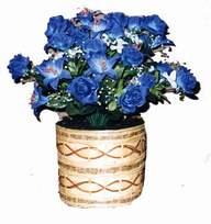 yapay mavi çiçek sepeti  Sivas çiçek siparişi vermek