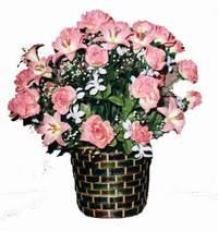 yapay karisik çiçek sepeti  Sivas 14 şubat sevgililer günü çiçek