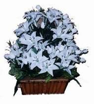 yapay karisik çiçek sepeti   Sivas çiçekçiler