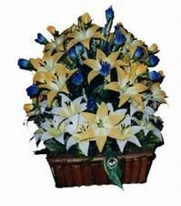 yapay karisik çiçek sepeti   Sivas İnternetten çiçek siparişi