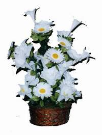 yapay karisik çiçek sepeti  Sivas internetten çiçek satışı
