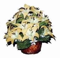 yapay karisik çiçek sepeti   Sivas ucuz çiçek gönder
