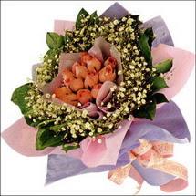 11  adet  gül ve   elyaflar   Sivas çiçek , çiçekçi , çiçekçilik