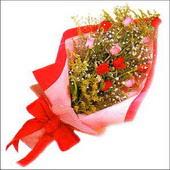 12 adet renkli  gül buketi   Sivas çiçek , çiçekçi , çiçekçilik