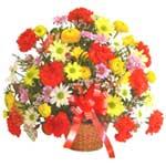 karisik renkli çiçek sepet   Sivas online çiçekçi , çiçek siparişi