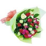 12 adet renkli gül buketi   Sivas online çiçekçi , çiçek siparişi