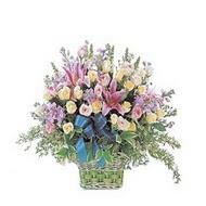 sepette kazablanka ve güller   Sivas İnternetten çiçek siparişi