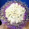 71 adet beyaz gül buketi   Sivas çiçek gönderme