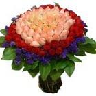 71 adet renkli gül buketi   Sivas çiçekçi telefonları