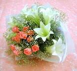 Sivas çiçek yolla , çiçek gönder , çiçekçi   lilyum ve 7 adet gül buket