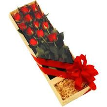kutuda 12 adet kirmizi gül   Sivas çiçek yolla , çiçek gönder , çiçekçi
