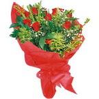 10 adet kirmizi gül buketi  Sivas çiçek yolla , çiçek gönder , çiçekçi