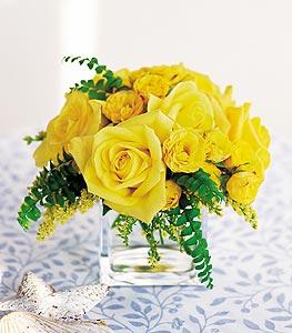 Sivas çiçek siparişi vermek  cam içerisinde 12 adet sari gül