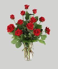 Sivas çiçek siparişi vermek  11 adet kirmizi gül vazo halinde