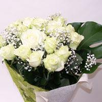 Sivas çiçek satışı  11 adet sade beyaz gül buketi
