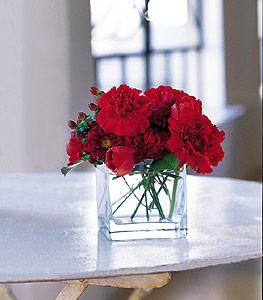 Sivas çiçekçi telefonları  kirmizinin sihri cam içinde görsel sade çiçekler