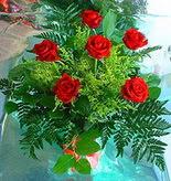 6 adet kirmizi gül buketi   Sivas çiçekçiler