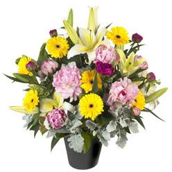 karisik mevsim çiçeklerinden vazo tanzimi  Sivas online çiçek gönderme sipariş