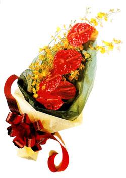özel 5 adet antorium buketi   Sivas online çiçekçi , çiçek siparişi