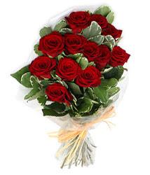 Sivas güvenli kaliteli hızlı çiçek  9 lu kirmizi gül buketi.