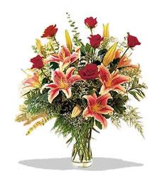 Sivas anneler günü çiçek yolla  Pembe Lilyum ve Gül