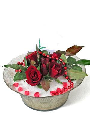 Sivas internetten çiçek satışı  EN ÇOK Sevenlere 7 adet kirmizi gül mika yada cam tanzim