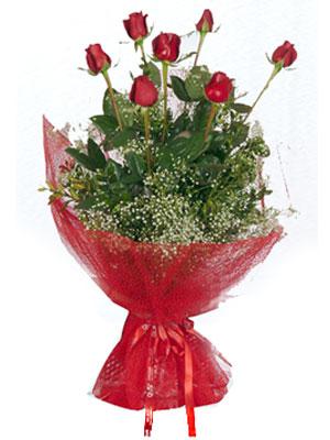 Sivas anneler günü çiçek yolla  7 adet gülden buket görsel sik sadelik