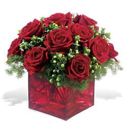 Sivas çiçek yolla , çiçek gönder , çiçekçi   9 adet kirmizi gül cam yada mika vazoda