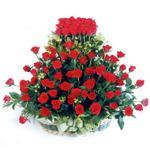 Sivas çiçek online çiçek siparişi  41 adet kirmizi gülden sepet tanzimi