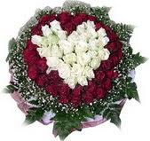 Sivas hediye sevgilime hediye çiçek  27 adet kirmizi ve beyaz gül sepet içinde