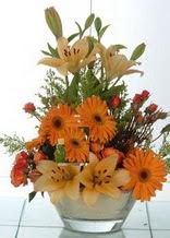 Sivas anneler günü çiçek yolla  cam yada mika vazo içinde karisik mevsim çiçekleri