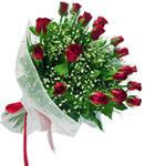 Sivas hediye çiçek yolla  11 adet kirmizi gül buketi sade ve hos sevenler