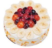 Meyvali 4 ile 6 kisilik yas pasta leziz  Sivas çiçekçi telefonları