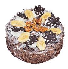 Muzlu çikolatali yas pasta 4 ile 6 kisilik   Sivas online çiçek gönderme sipariş